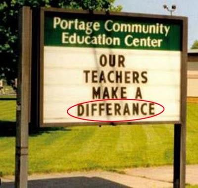 School Sign FAIL